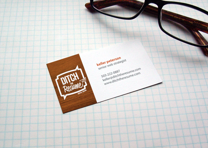 Ditch The Resume business card