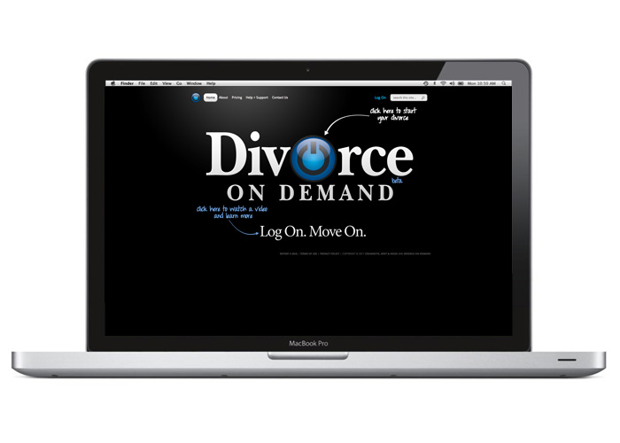 Divorce On Demand website